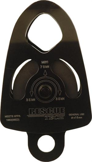 "3"" Double Tactical Pulley, Aluminum (Black)"
